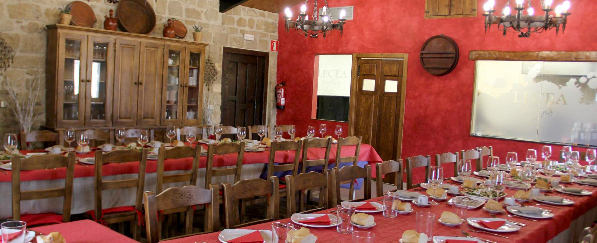 Salón comedor en Bodegas Lecea